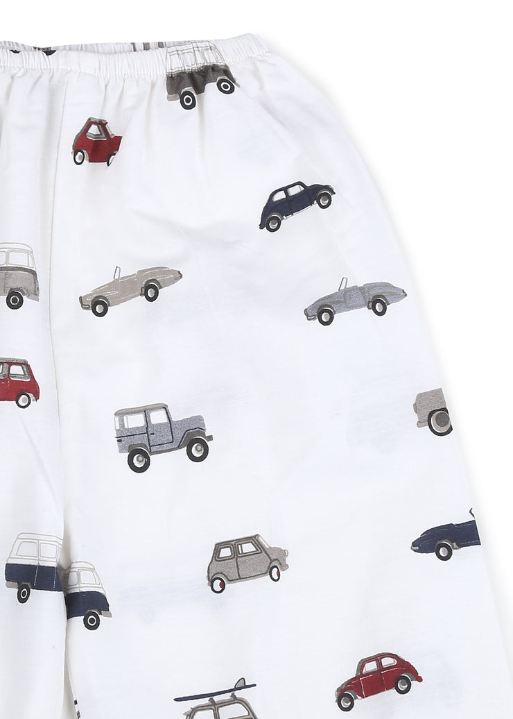 Lets go for a Drive Print Long Sleeve Kids Night Suit
