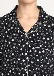Sparkle Like a Star Print Short Sleeve Women's Night Suit