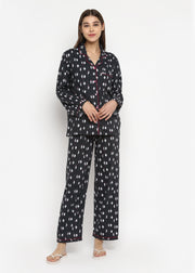 Penguin Love Print Cotton Flannel Long Sleeve Women's Night Suit