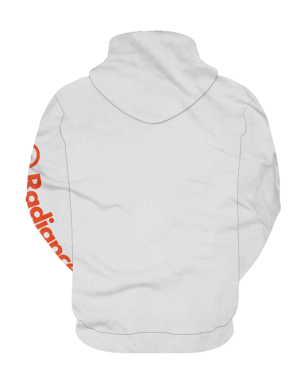 "Radiance ""Script"" White Pullover Hoodie"