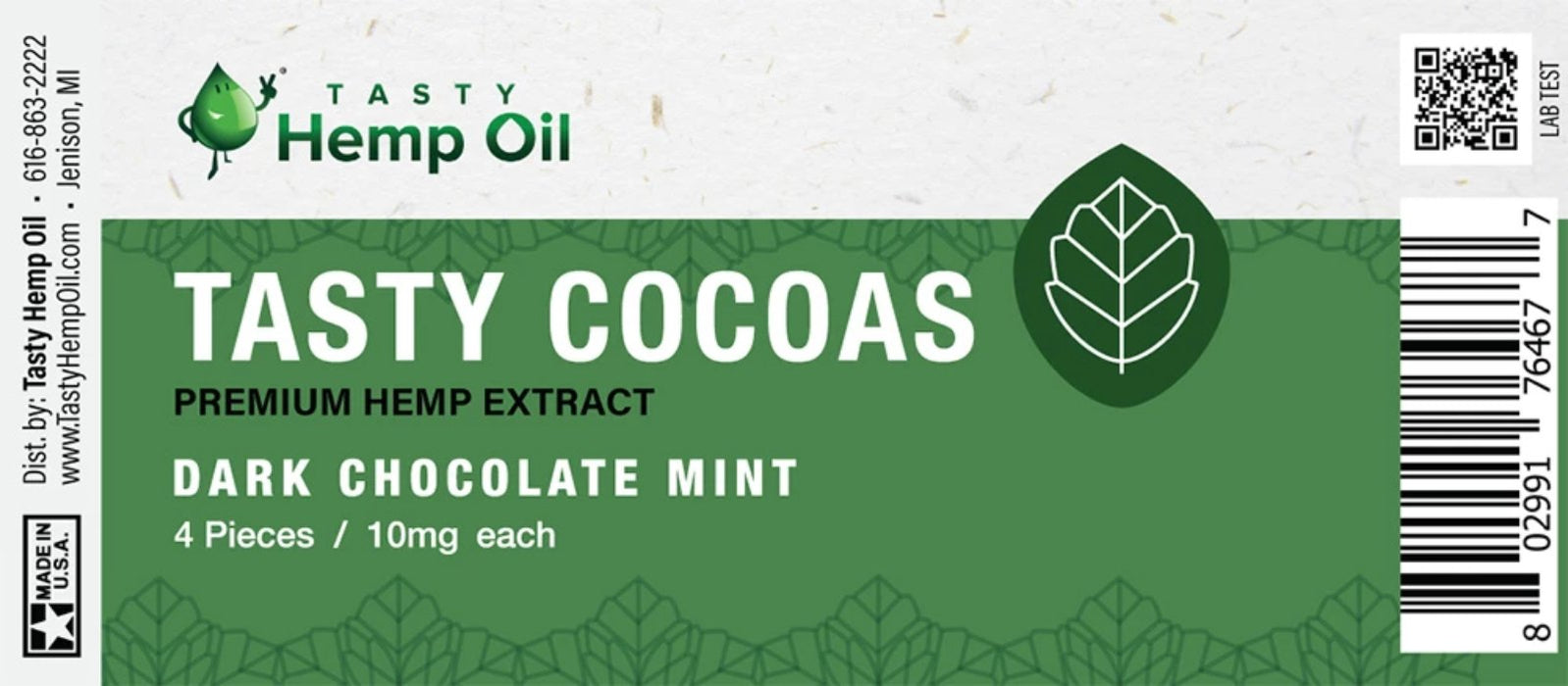 Cocoas – Hemp Chocolate (4 pieces/10mg ea) - bubba-skunk