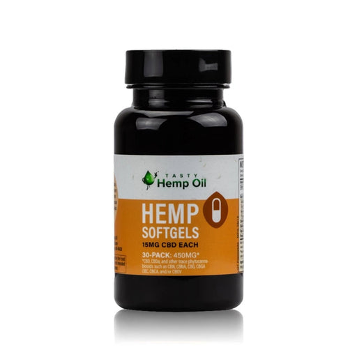 Hemp Oil Softgels 30-Pack (450mg CBD) - bubba-skunk