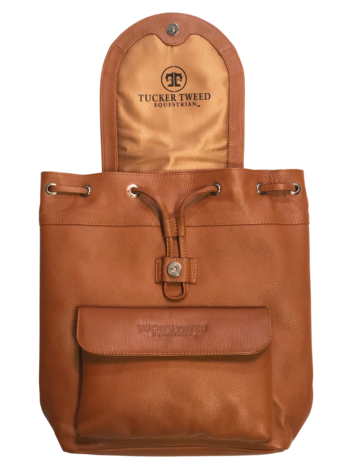 Tucker Tweed Equestrian Leather Handbags Brandywine Backpack: Dressage