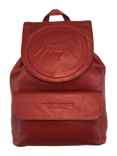 Tucker Tweed Equestrian Leather Handbags Dressage Red Brandywine Backpack: Dressage