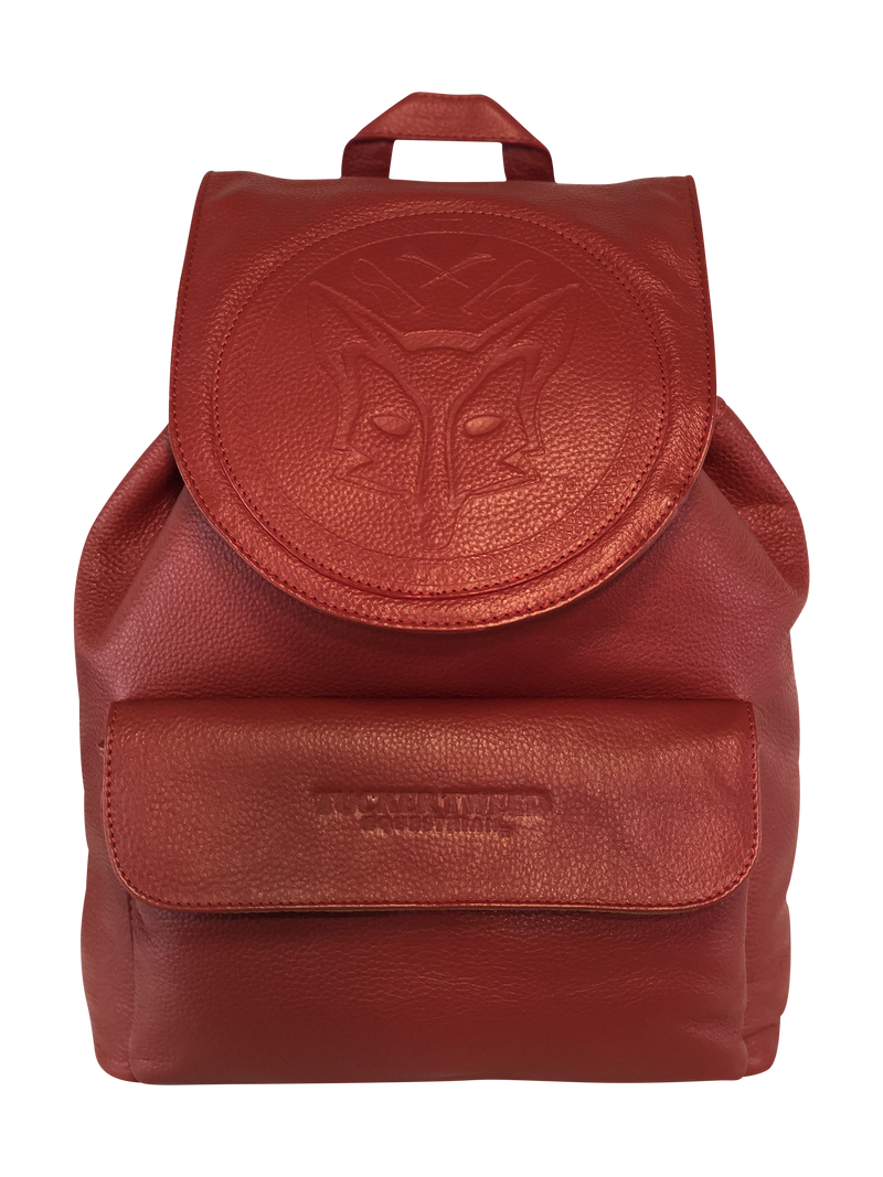 Tucker Tweed Equestrian Leather Handbags Fox Hunting Chestnut Brandywine Backpack: Fox Hunting