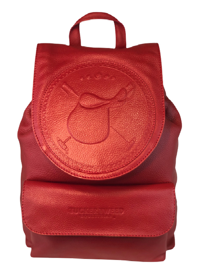 Tucker Tweed Equestrian Leather Handbags Polo Red Brandywine Backpack: Polo