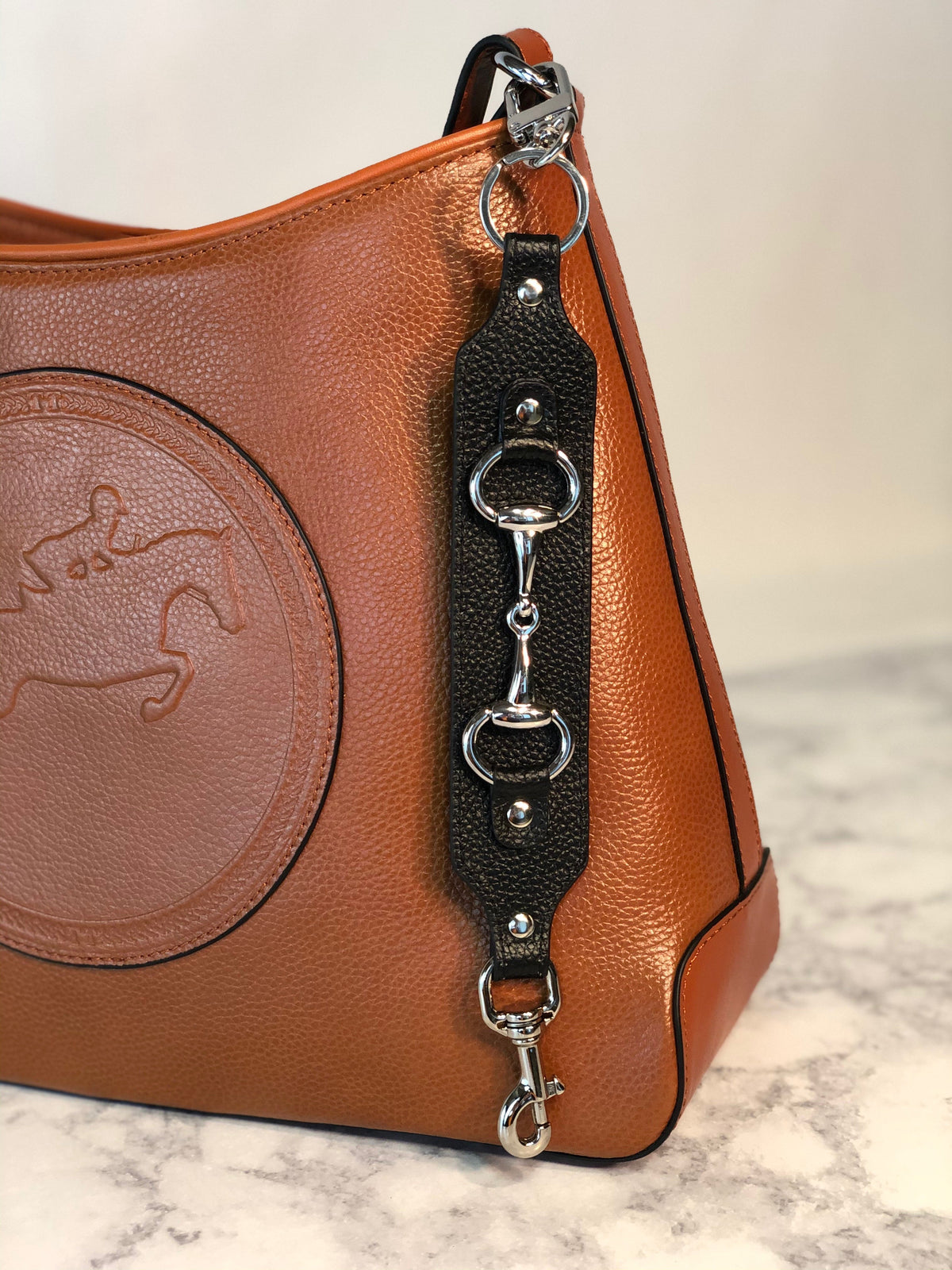 Tucker Tweed Equestrian Leather Handbags Bit Tucker Tweed Equestrian Keychains