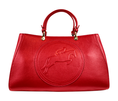 Tucker Tweed Leather Handbags Red / Hunter/Jumper Sedgefield Legacy: Hunter/Jumper