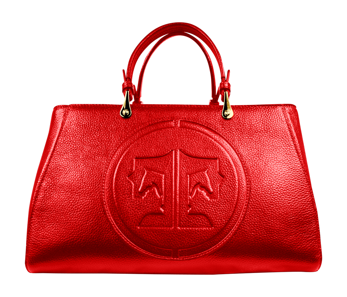 Tucker Tweed Leather Handbags Red / Signature Sedgefield Legacy: Signature