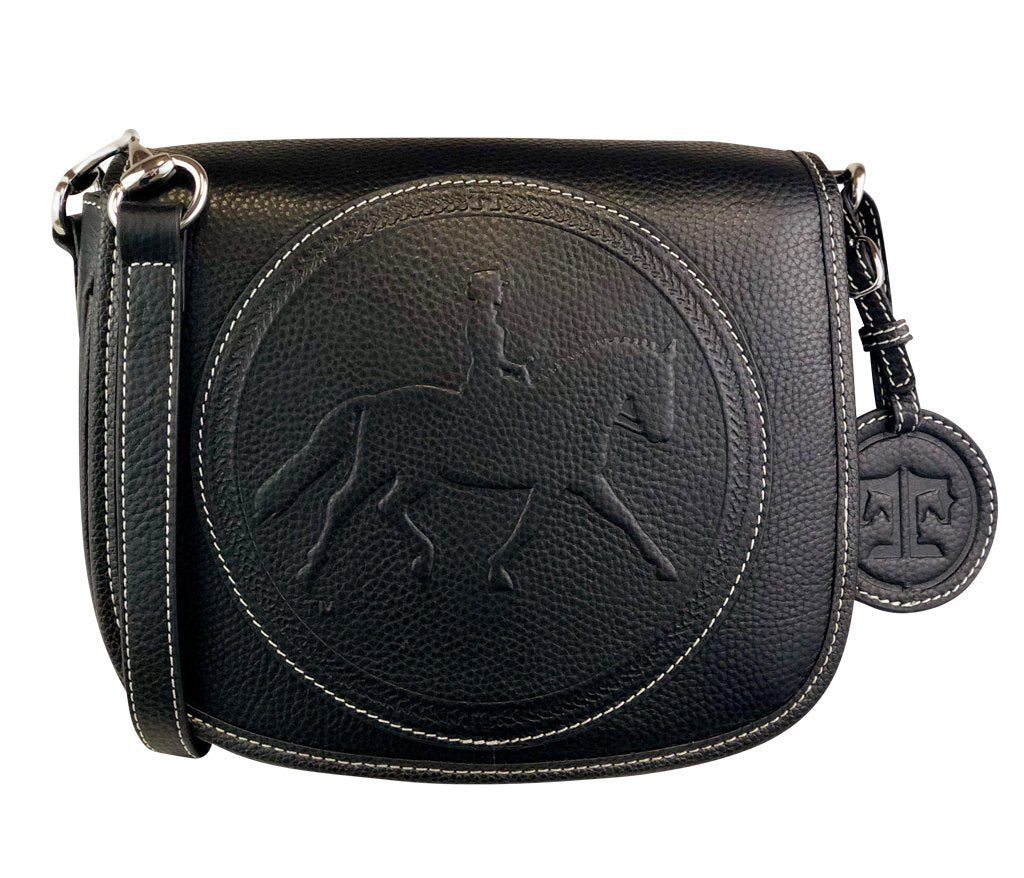 Tucker Tweed Leather Handbags Black / Dressage The Camden Crossbody: Dressage
