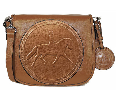 Tucker Tweed Leather Handbags Chestnut / Dressage The Camden Crossbody: Dressage