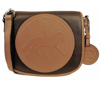 Tucker Tweed Leather Handbags Dark Chocolate-Chestnut / Dressage The Camden Crossbody: Dressage
