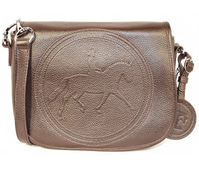 Tucker Tweed Leather Handbags Dark Chocolate / Dressage The Camden Crossbody: Dressage