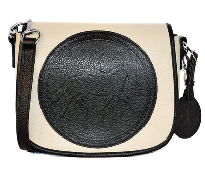 Tucker Tweed Leather Handbags Ivory-Black / Dressage The Camden Crossbody: Dressage