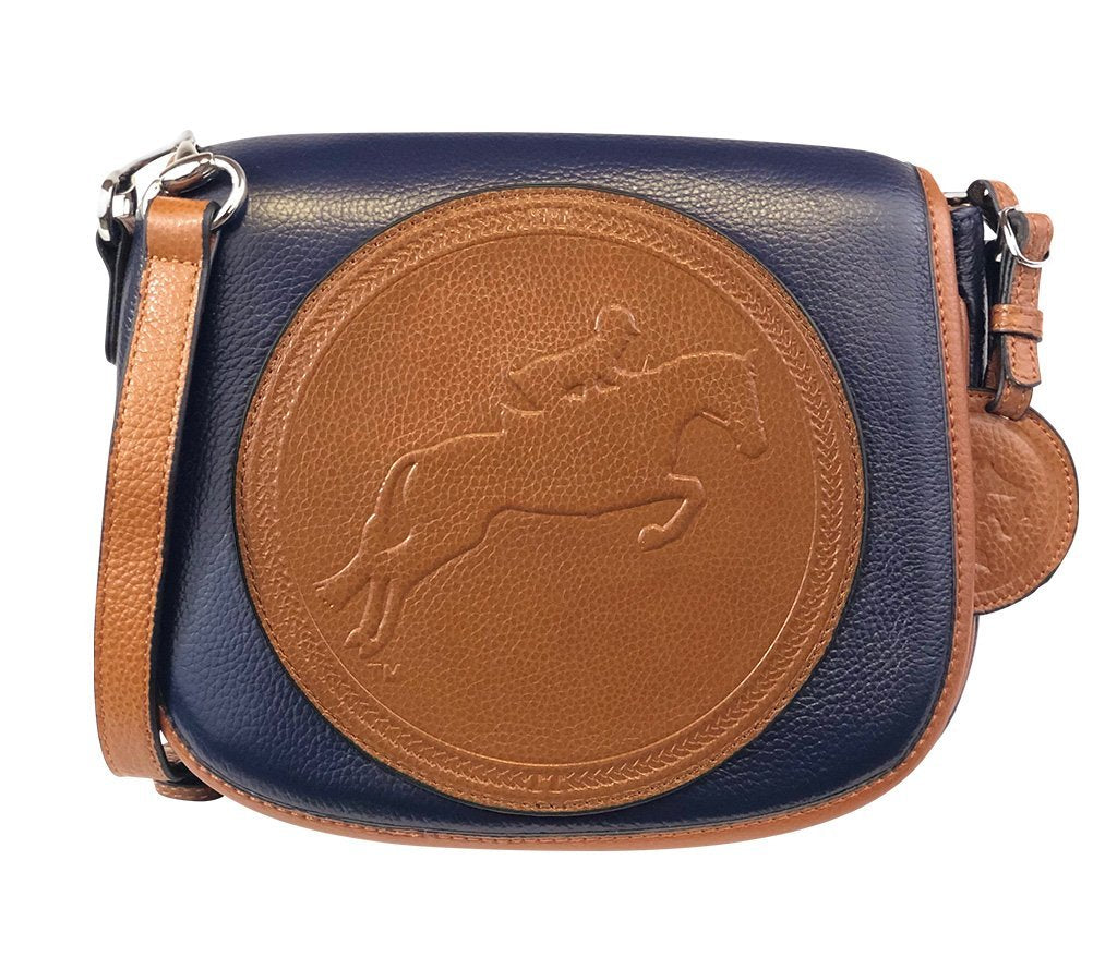 Tucker Tweed Leather Handbags Navy/Chestnut / Hunter/Jumper The Camden Crossbody: Hunter/Jumper