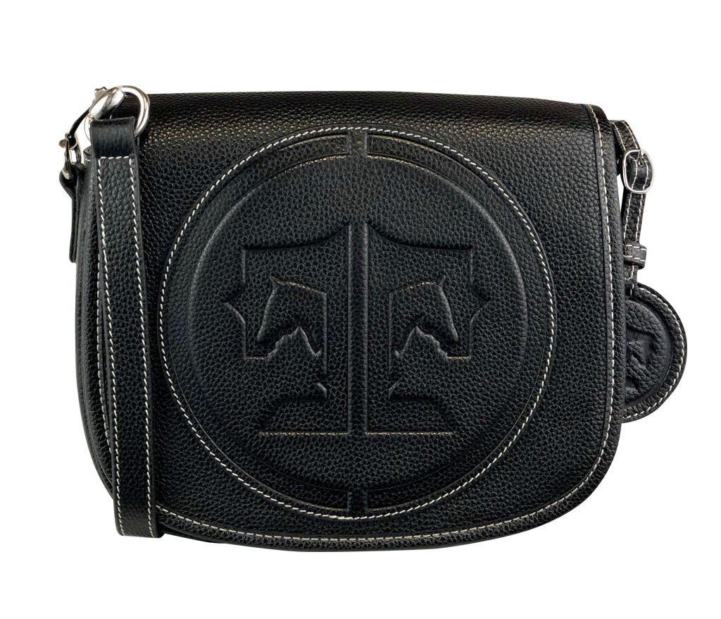 Tucker Tweed Leather Handbags Black / Signature The Camden Crossbody: Signature