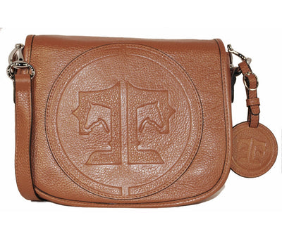 Tucker Tweed Leather Handbags Chestnut / Signature The Camden Crossbody: Signature
