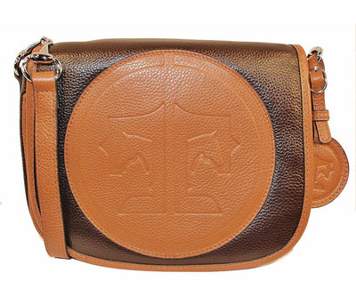 Tucker Tweed Leather Handbags Dark Chocolate / Chestnut / Signature The Camden Crossbody: Signature