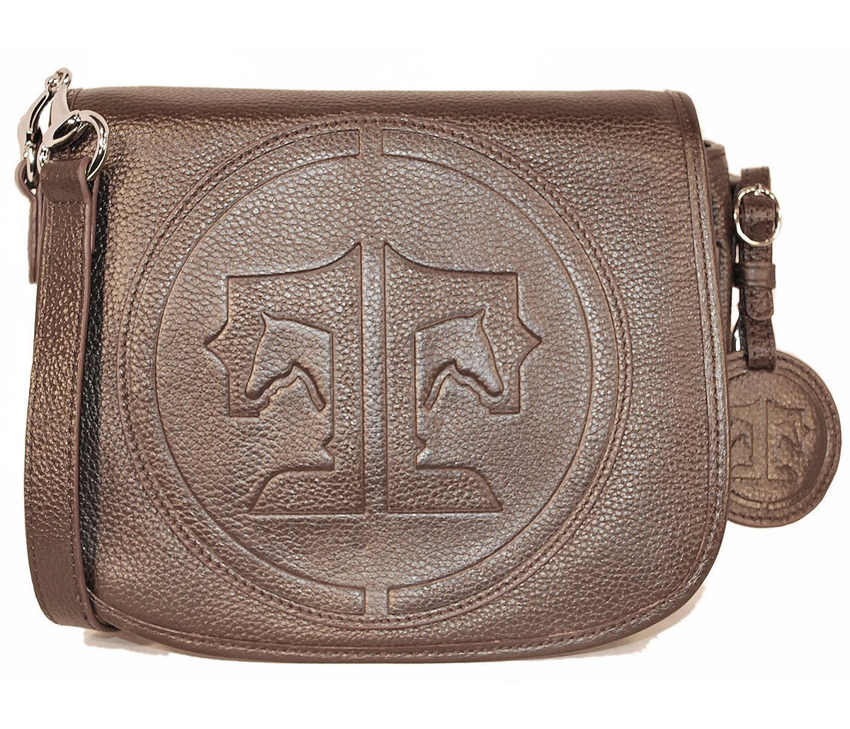 Tucker Tweed Leather Handbags Dark Chocolate / Signature The Camden Crossbody: Signature