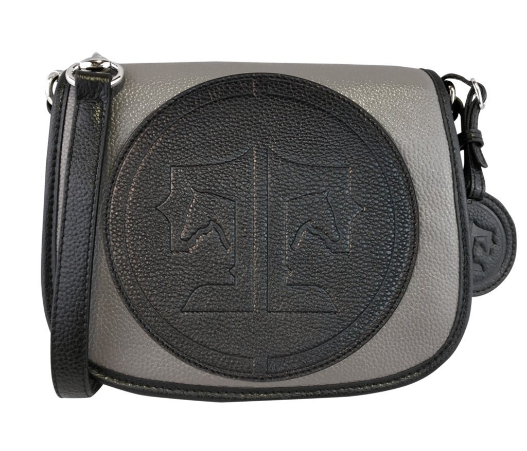 Tucker Tweed Leather Handbags Grey/Black / Signature The Camden Crossbody: Signature