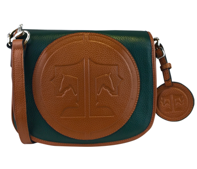 Tucker Tweed Leather Handbags Hunter Green/Chestnut / Signature The Camden Crossbody: Signature