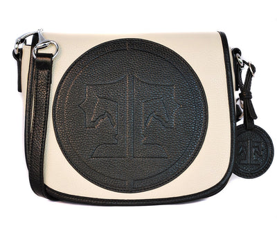 Tucker Tweed Leather Handbags Ivory/Black / Signature The Camden Crossbody: Signature