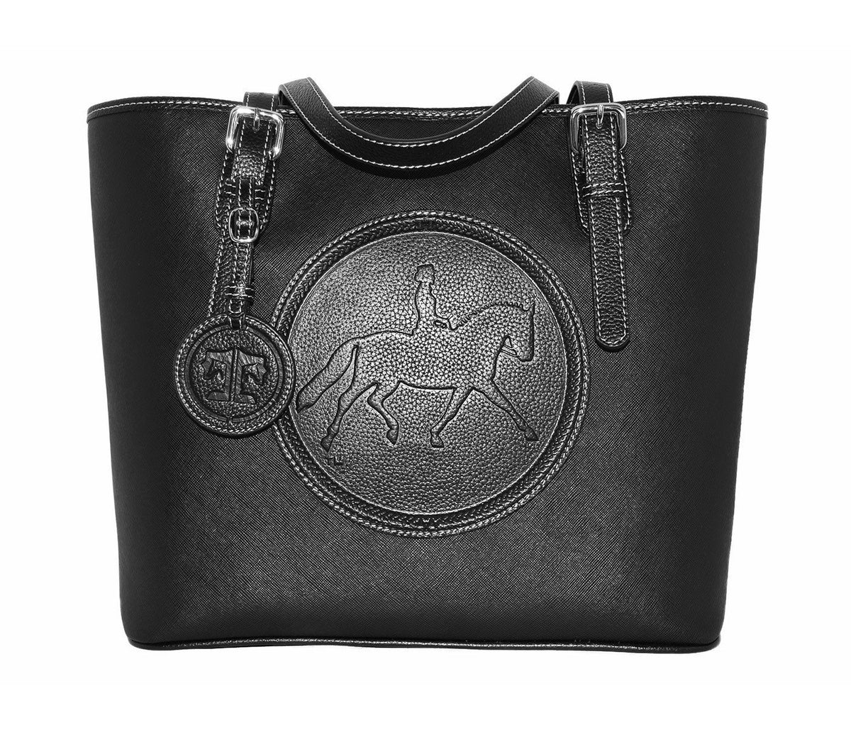 Tucker Tweed Leather Handbags Black The James River Carry All: Dressage