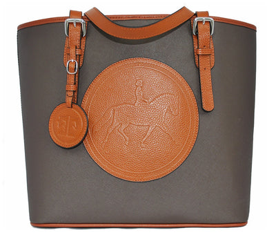 Tucker Tweed Leather Handbags Espresso/Chestnut The James River Carry All: Dressage