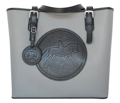 Tucker Tweed Leather Handbags Grey/Black The James River Carry All: Dressage