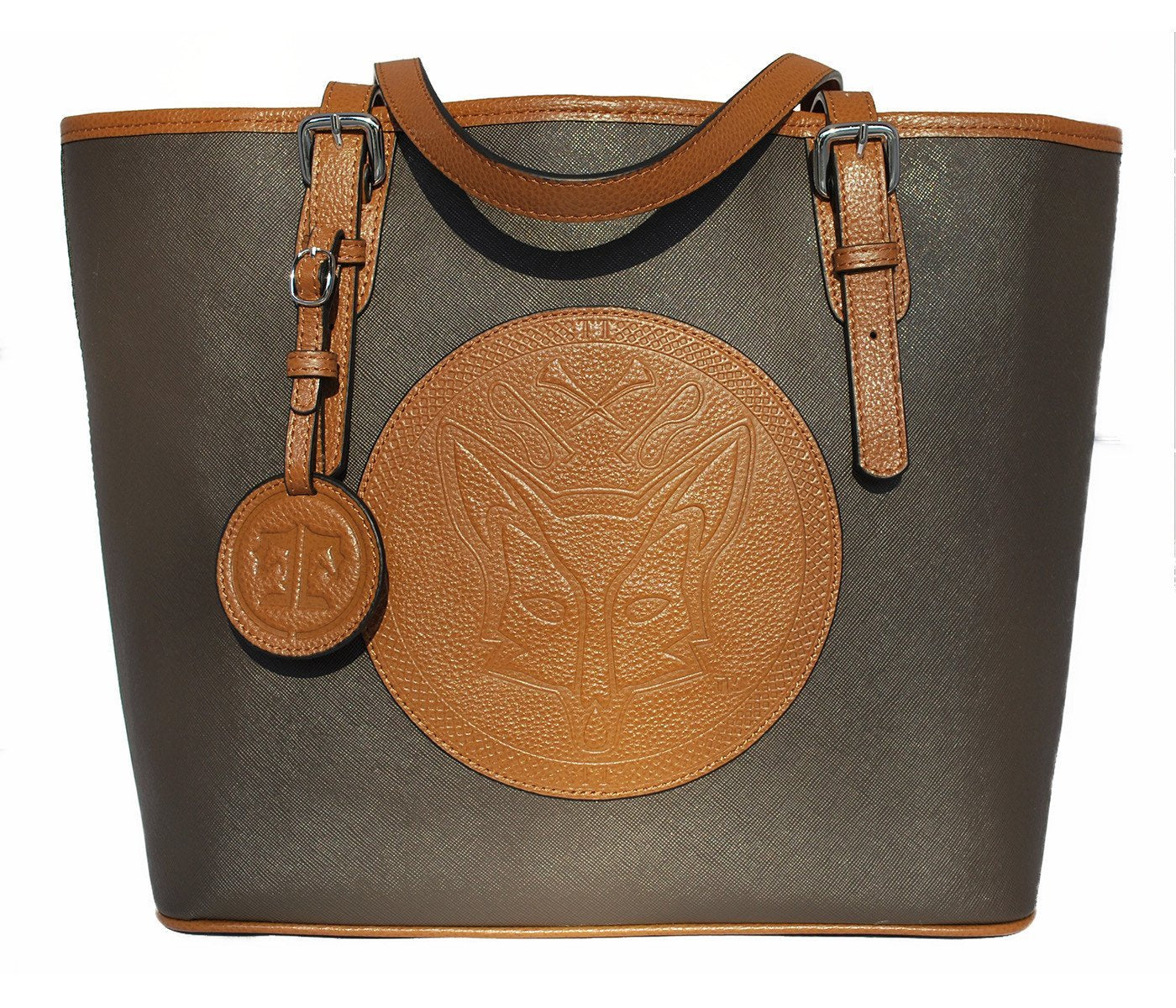 Tucker Tweed Leather Handbags Espresso/Chestnut The James River Carry All: Foxhunting
