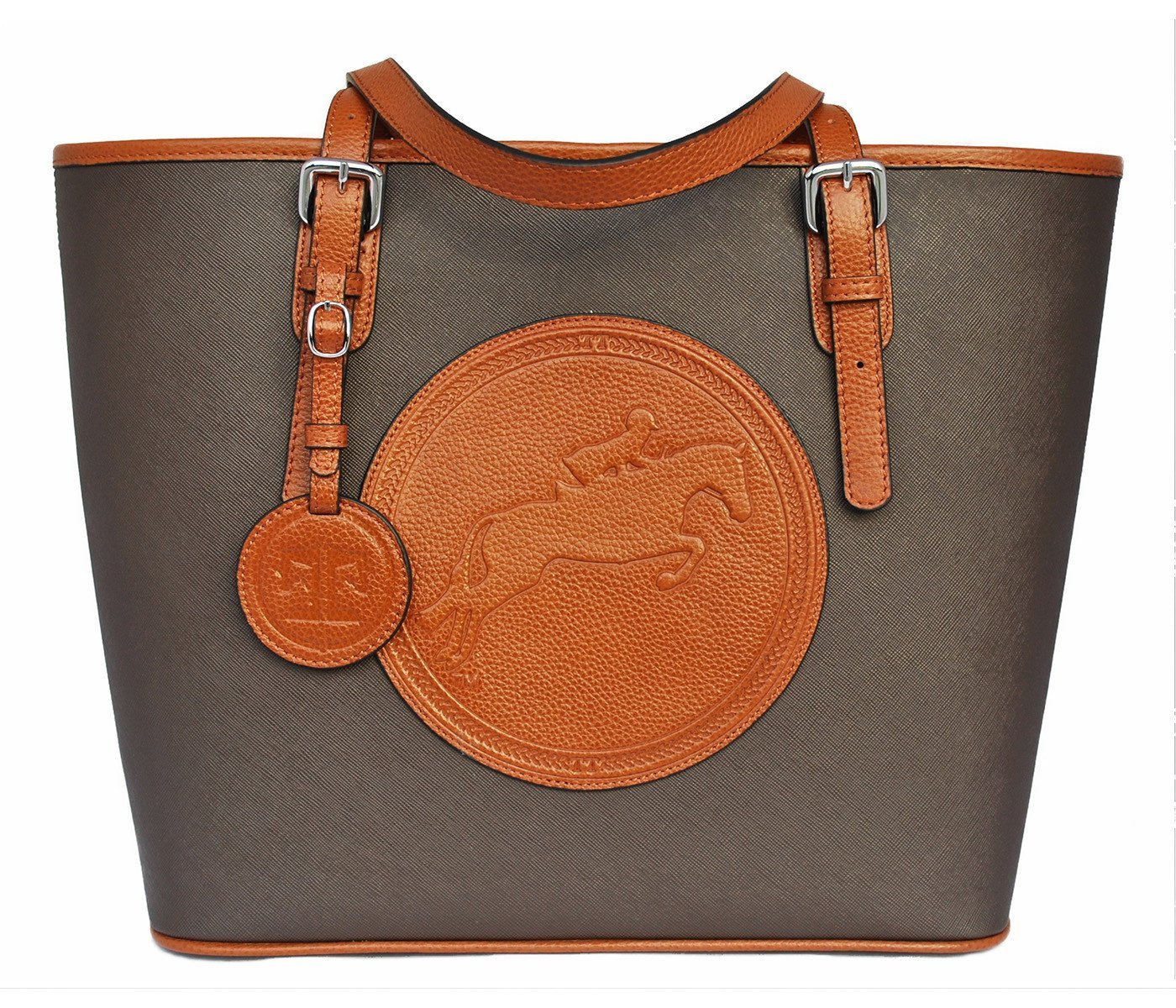 Tucker Tweed Leather Handbags Espresso/Chestnut The James River Carry All: Hunter/Jumper