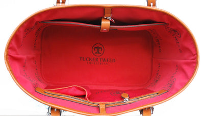Tucker Tweed Leather Handbags The James River Carry All: Signature