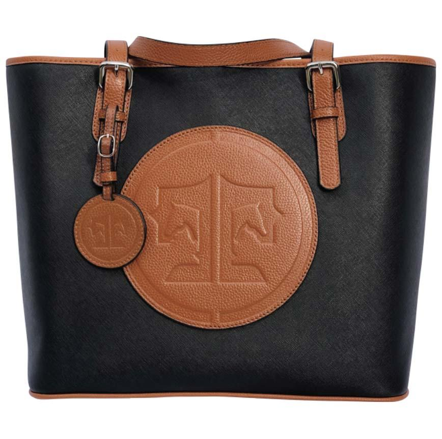 Tucker Tweed Leather Handbags Black/Chestnut The James River Carry All: Signature