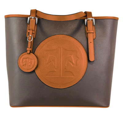 Tucker Tweed Leather Handbags Espresso/Chestnut The James River Carry All: Signature