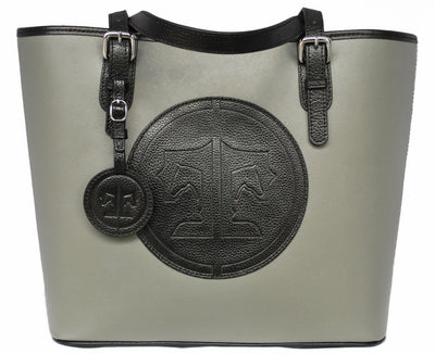 Tucker Tweed Leather Handbags Grey/Black The James River Carry All: Signature