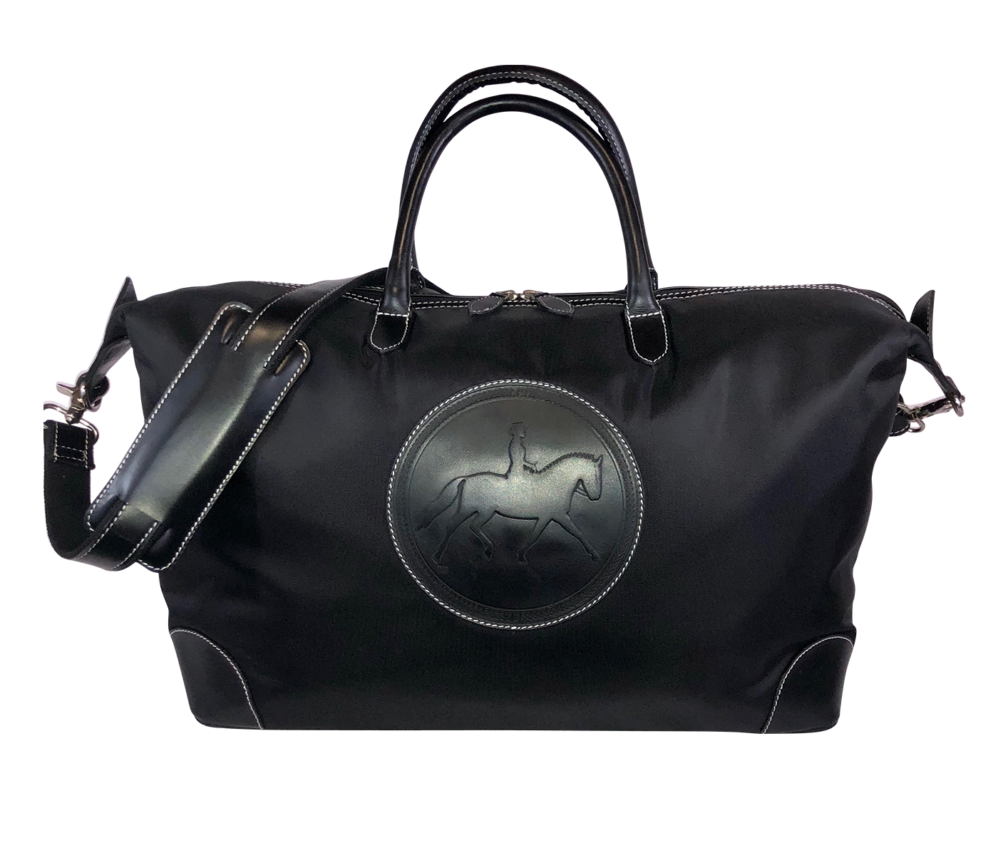 Tucker Tweed Leather Handbags Black/Black / Dressage The Tryon Travel Overnight: Dressage