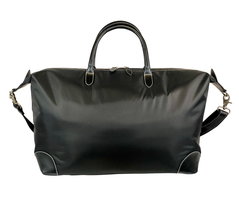 Tucker Tweed Leather Handbags Black/Black / Hunter/Jumper The Tryon Travel Overnight: Hunter/Jumper