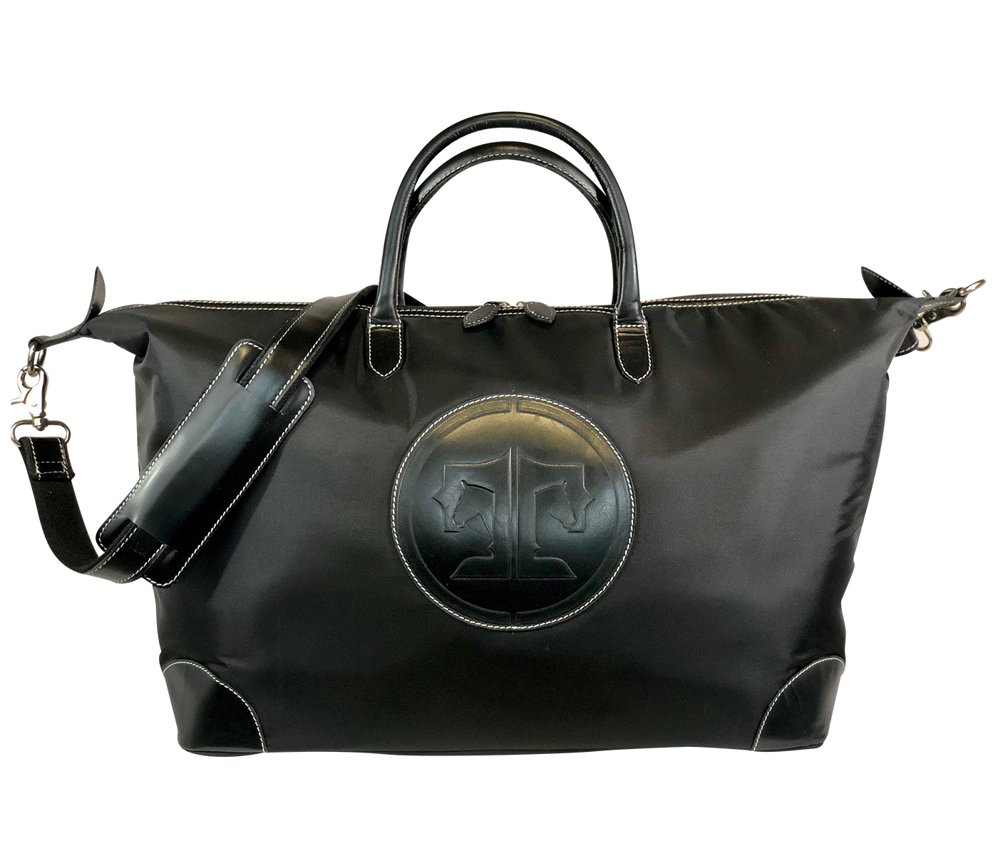 Tucker Tweed Leather Handbags Black/Black / Signature Collection The Tryon Travel Overnight: Signature Collection