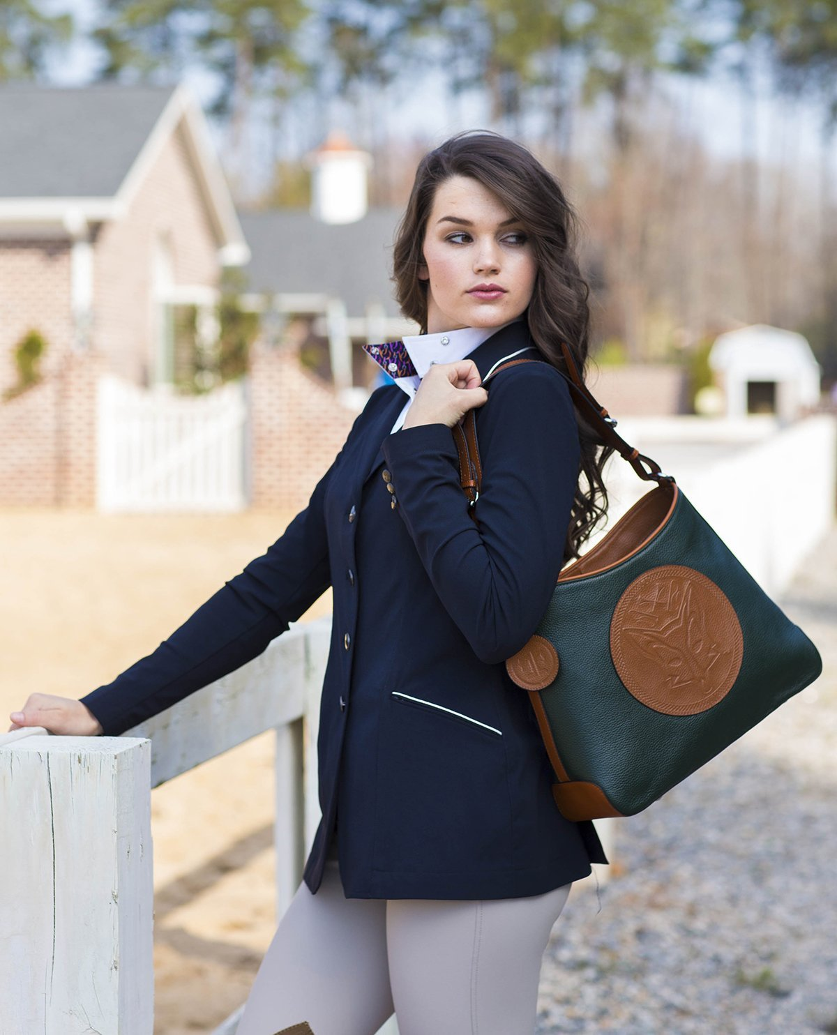 Tucker Tweed Leather Handbags The Tweed Manor Tote: Dressage