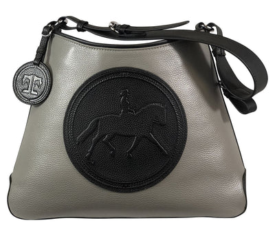 Tucker Tweed Leather Handbags Grey/Black / Dressage The Tweed Manor Tote: Dressage