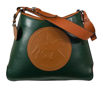 Tucker Tweed Leather Handbags Hunter Green/Chestnut / Dressage The Tweed Manor Tote: Dressage