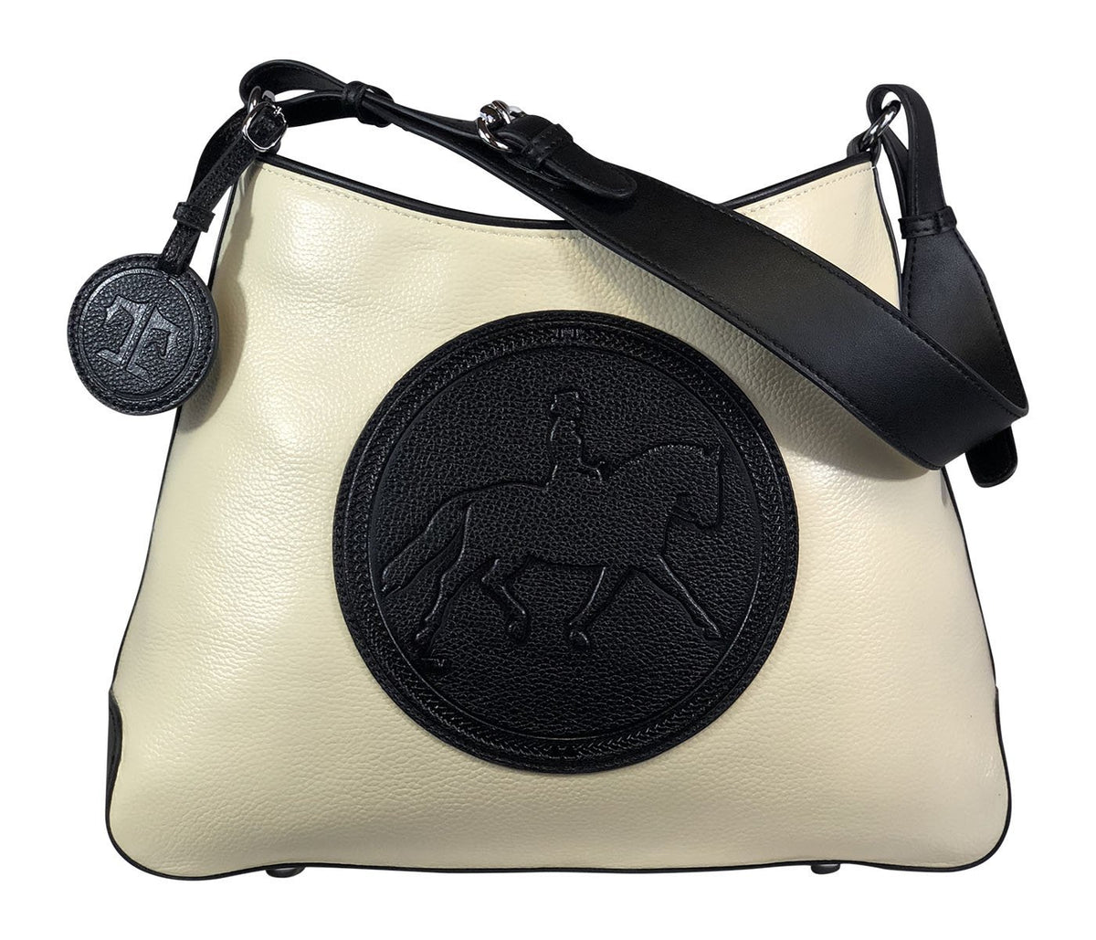 Tucker Tweed Leather Handbags Ivory/Black / Dressage The Tweed Manor Tote: Dressage
