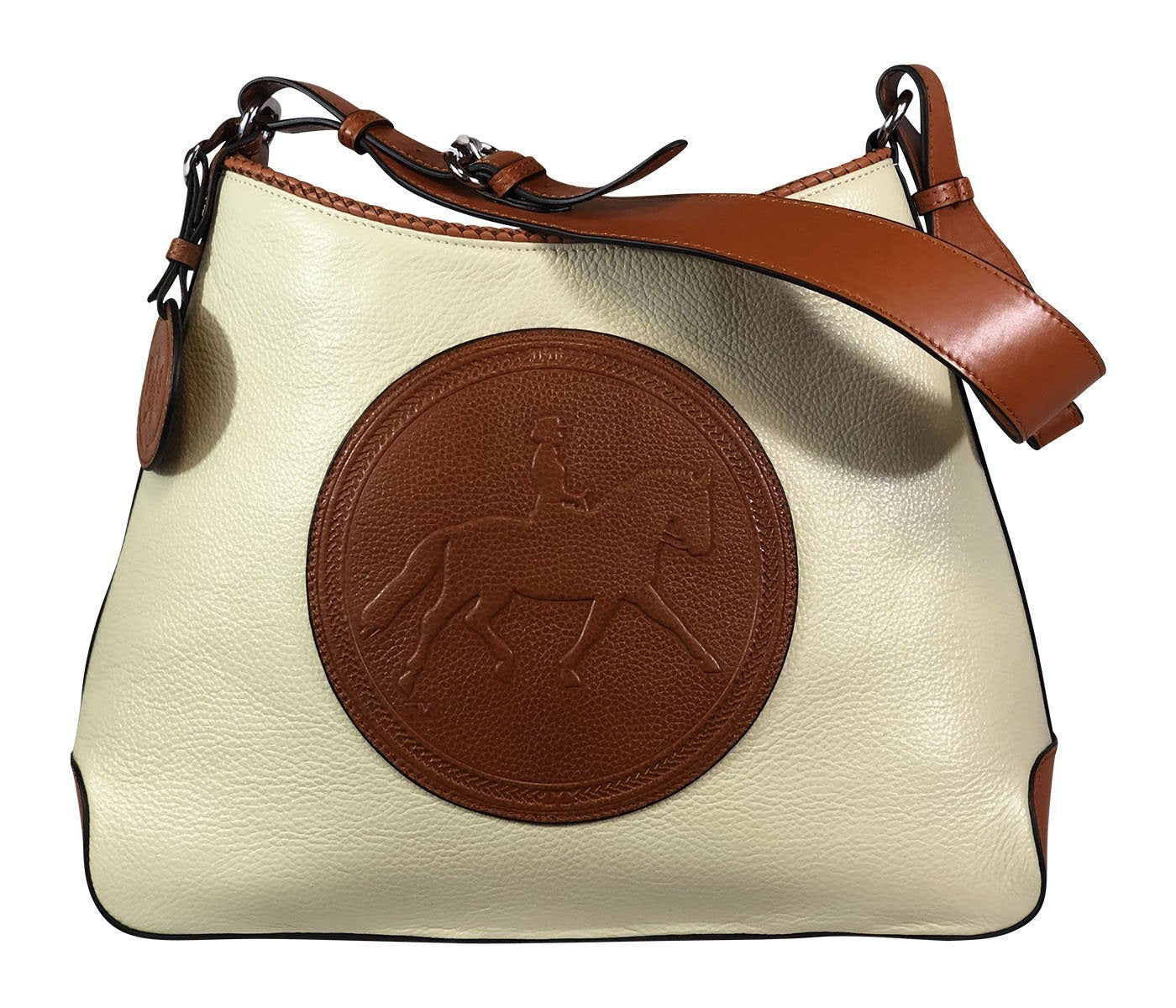 Tucker Tweed Leather Handbags Ivory/Chestnut / Dressage The Tweed Manor Tote: Dressage