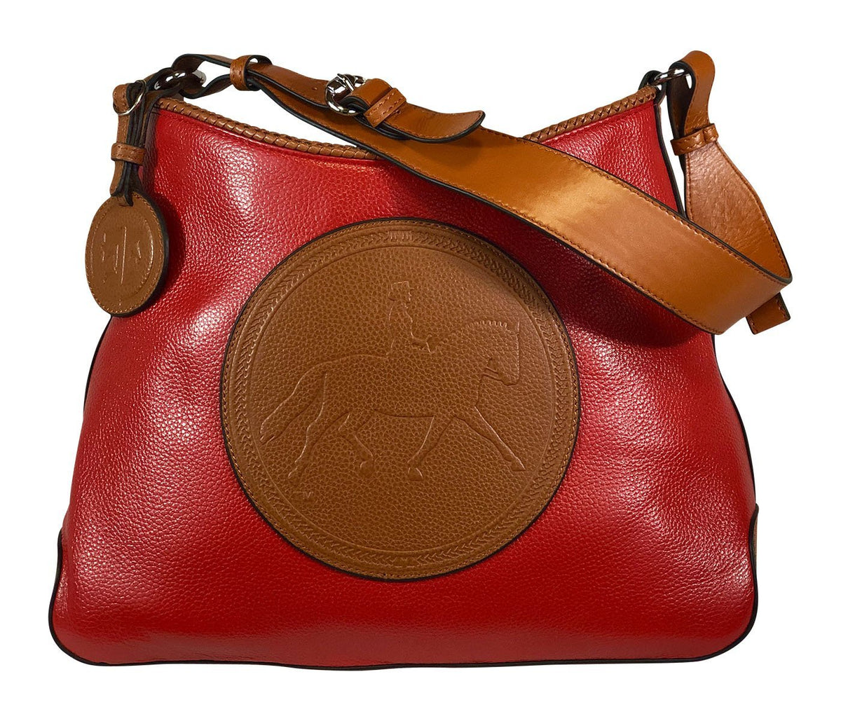 Tucker Tweed Leather Handbags Scarlet/Chestnut / Dressage The Tweed Manor Tote: Dressage