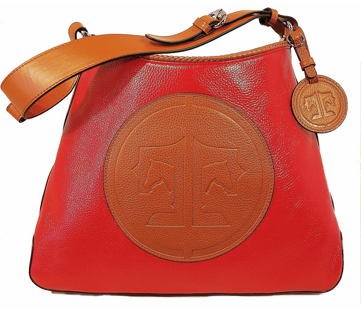 Tucker Tweed Leather Handbags Scarlet/Chestnut / Signature The Tweed Manor Tote: Signature