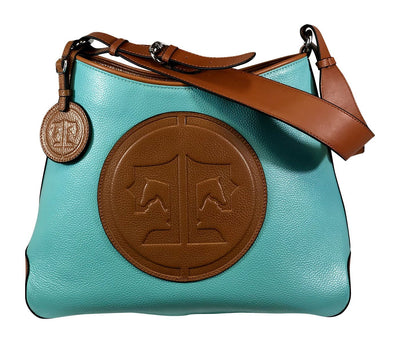 Tucker Tweed Leather Handbags Turquoise/Chestnut / Signature The Tweed Manor Tote: Signature