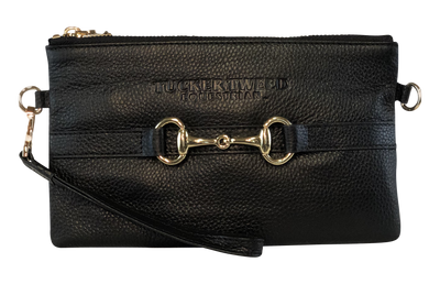 Tucker Tweed Leather Handbags Black The Wellington Wristlet