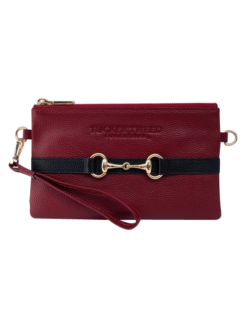 Tucker Tweed Leather Handbags Garnet/Black The Wellington Wristlet