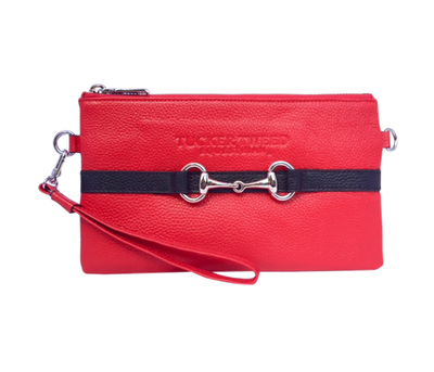 Tucker Tweed Leather Handbags Red/Black The Wellington Wristlet