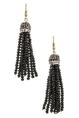 """FRINGE FOREVER""-BLACK EARRINGS"